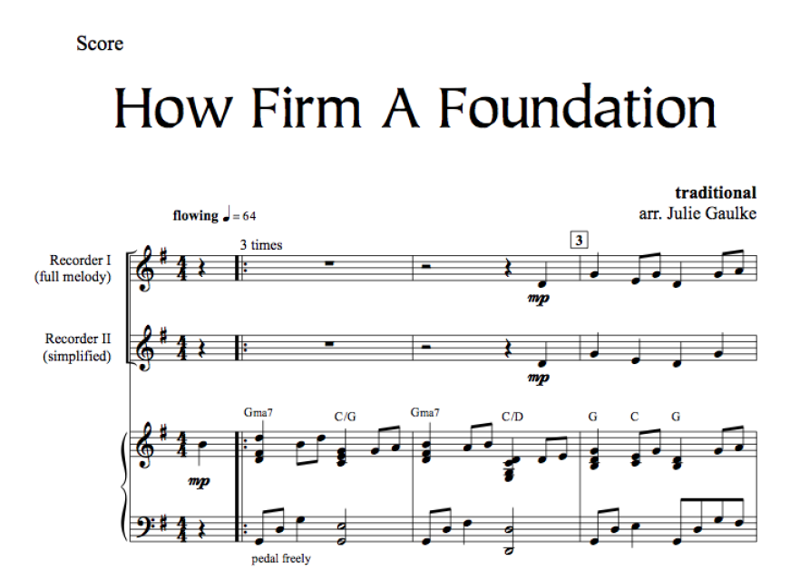 How Firm A Foundation - with MP3