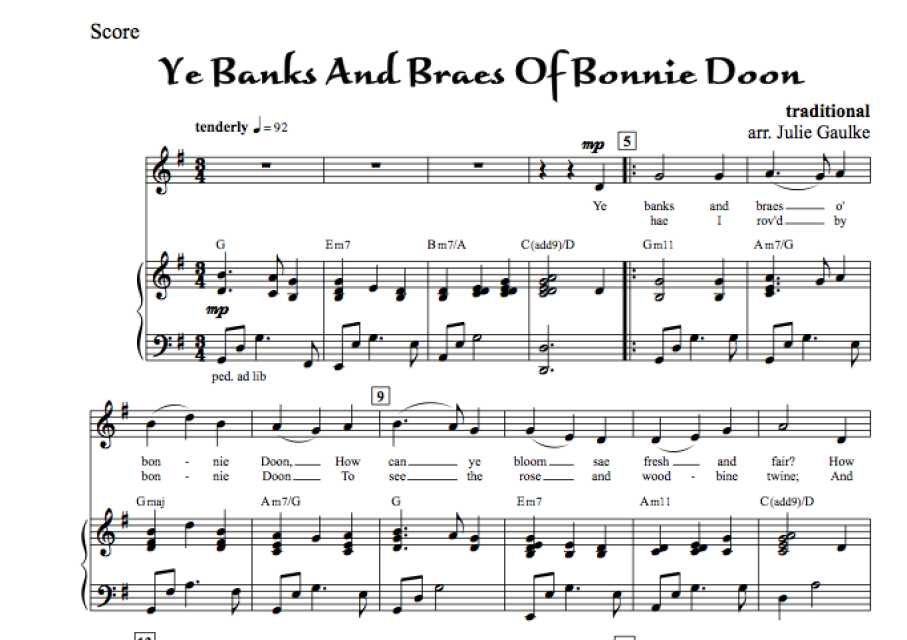 Ye Banks And Braes Of Bonnie Doon - with MP3