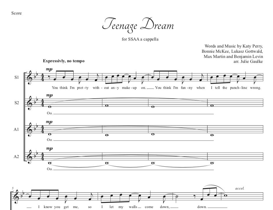 A Cappella Arrangements - Pianomom's Sheet Music